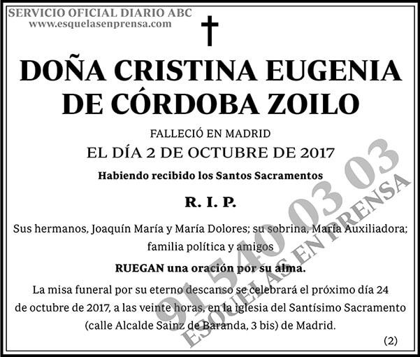 Cristina Eugenia de Córdoba Zoilo
